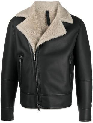 Tagliatore Shearling-Lined Sheepskin Jacket