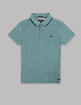 Autograph Textured Short Sleeve Polo Shirt (3-14 Years)