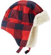 Osh Kosh Buffalo Check Trapper Hat