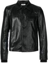 Saint Laurent collared leather jacket