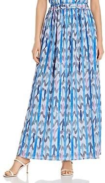 Giorgio Armani Emporio Abstract Print Maxi Skirt