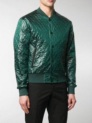 Dolce & Gabbana Diamond Quilted Bomber Jacket