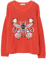 MANGO Recycled Cotton Embroidered Sweater