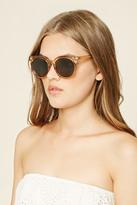 Forever 21 FOREVER 21+ Sheer Round Sunglasses