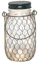 "Gerson The Companies 6.9""H Battery Operated Lighted Mason Jar With Black Wire"