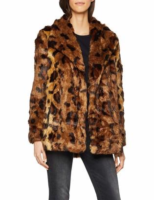 Only Women's Onljuliane Faux Fur Leo Coat OTW Jacket