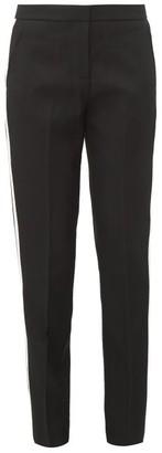 Burberry Hanover Tailored Satin-stripe Wool Trousers - Black White