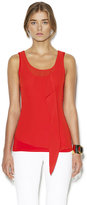 Vince Camuto Ruffle Asymmetrical Tank Red