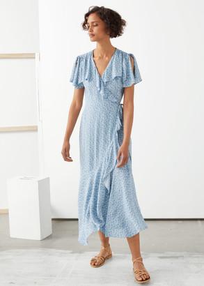 And other stories Asymmetric Wrap Midi Dress