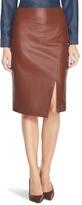 White House Black Market Slit Leather Pencil Skirt