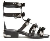 Toga Bow-embellished leather gladiator sandals