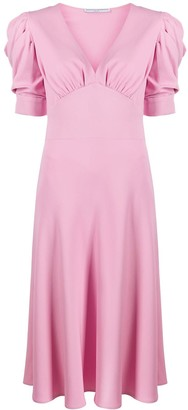 Ermanno Scervino Short Puff Sleeved Empire Dress