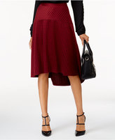 NY Collection Plaid High-Low Skirt