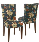 HomePop Floral Parsons Dining Chair 2-piece Set