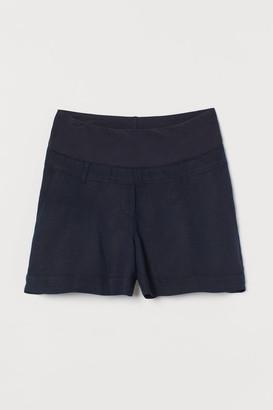 H&M MAMA Linen-blend shorts