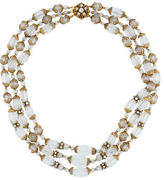 Miriam Haskell Crystal Multistrand Necklace