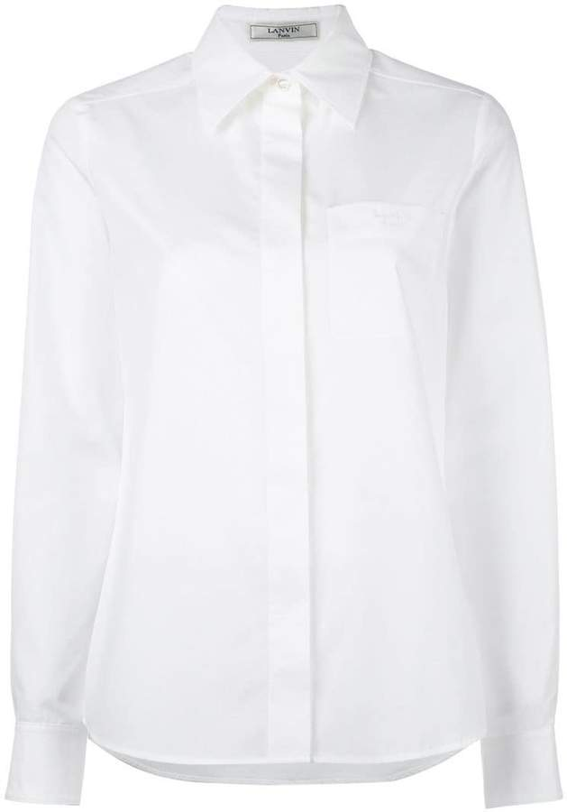 Lanvin patch pocket shirt