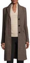 Giorgio Armani Notched-Collar Long Coat, Camel Brown