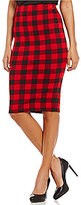 Daniel Cremieux Court Plaid Ponte Pencil Skirt