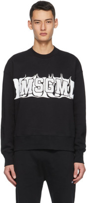 MSGM Black Haunted Logo Sweatshirt