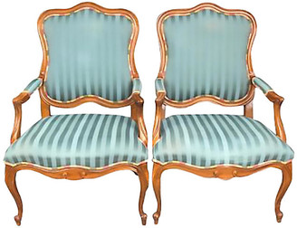 One Kings Lane Vintage Ethan Allen Blue Armchairs - a Pair - Interesting Things