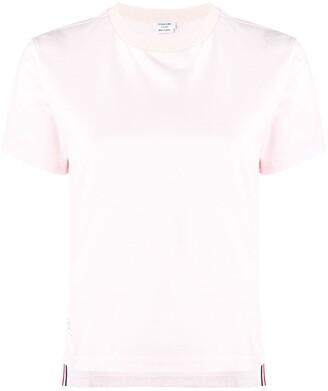 Thom Browne short-sleeve logo-patch T-shirt