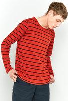 Nudie Jeans Orvar Blood Orange Breton Stripe Long-sleeve T-shirt