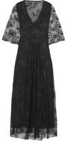Maje Rafinee Lace And Tulle Midi Dress