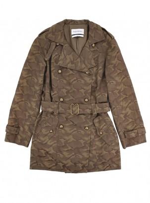 Saint Laurent Green Cotton Trench Coat for Women