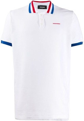 DSQUARED2 Striped Trim Polo Shirt