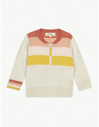 Bonnie Mob Retro stripe-print knitted cotton jumper 3-36 months