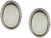 Carolina Bucci oval pearl stud earrings