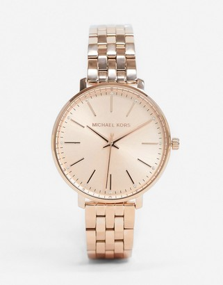 Michael Kors Pyper rose gold bracelet watch MK3897