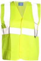 Fashion Box Hi Viz High Visibility Childrens Vest Kids Safety Waistcoat