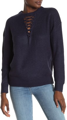 Heartloom Larissa Lace-Up Knit Sweater