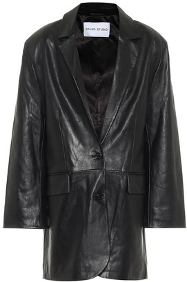 Stand Studio Juniper leather blazer