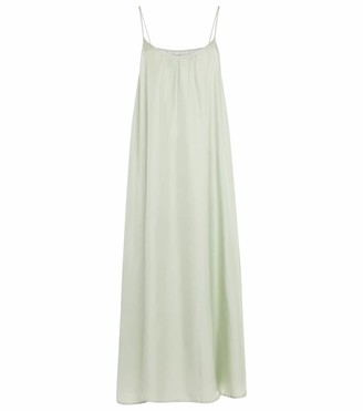 ASCENO Napoli silk satin slip dress