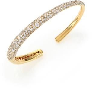 Kwiat Cobblestone Diamond & 18K Yellow Gold Cuff Bracelet