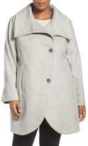 Tahari Plus Size Women's Asymmetrical Coat