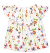 Margherita Infant Girl's Flower Print Ruffle Top