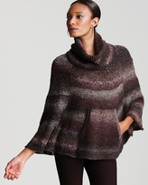 Chunky Ombre Poncho Sweater