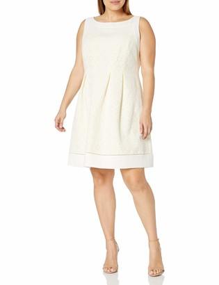 Jessica Howard JessicaHoward Women's Plus Size Framed Fit and Flare Dress