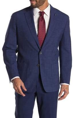 Peter Millar Check Print Soft Wool Blend Jacket