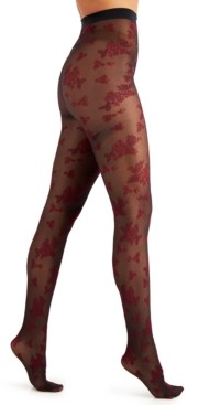 INC International Concepts Inc Flocked Floral Tights, Created for Macy's