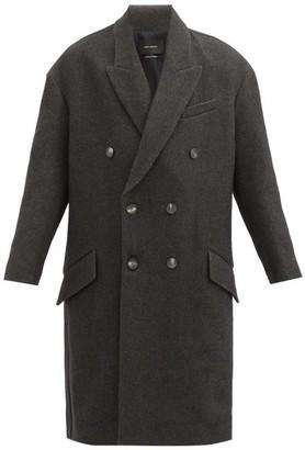 Isabel Marant Idalia Double-breasted Wool-blend Coat - Grey