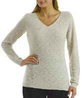 Studio Women's Basketweave Front Panel Sweater