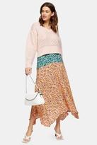 Topshop TALL Multi Mixed Floral Print Skirt