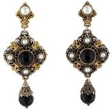 Konstantino Two-Tone Onyx & Pearl Drop Earrings