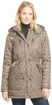 Vince Camuto Women's Detachable Hood Quilted Anorak (Regular & Petite)