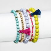 SUGARFIX by BaubleBar Multicolor Beaded Bracelet Set of Five - Multi-Colored